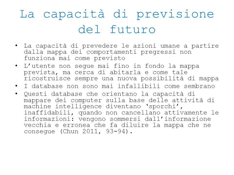 La capacità di previsione del futuro