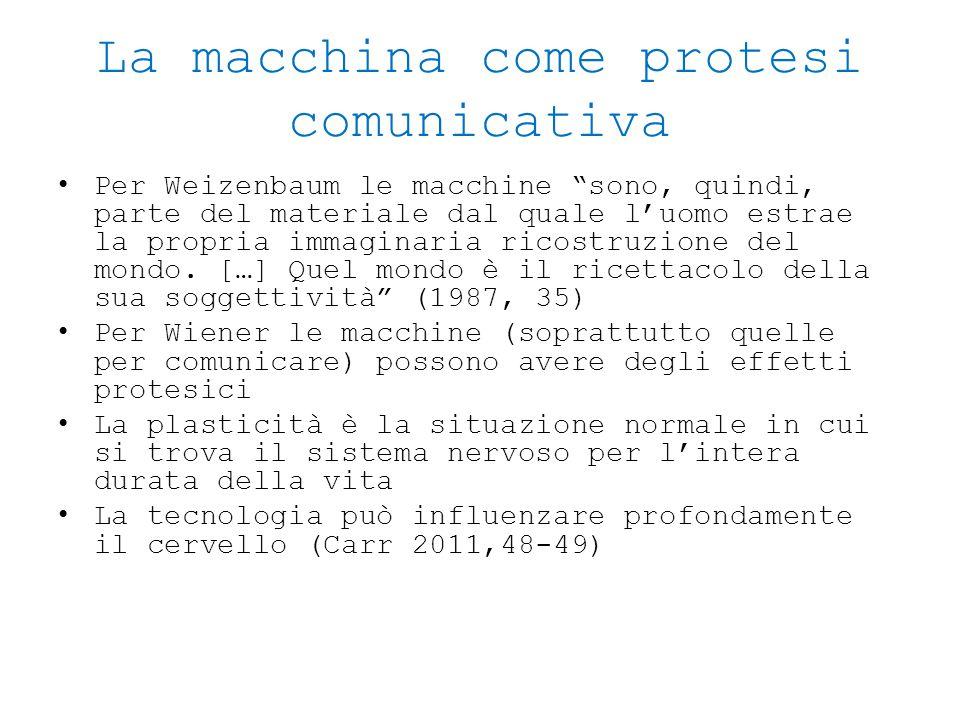 La macchina come protesi comunicativa