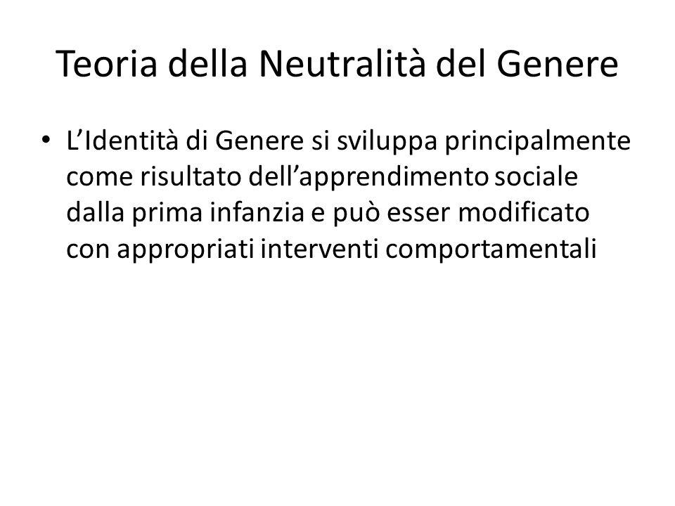 Teoria della Neutralità del Genere