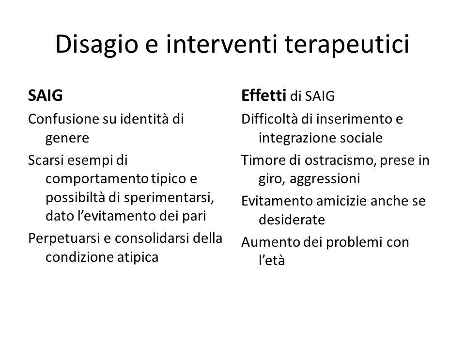 Disagio e interventi terapeutici
