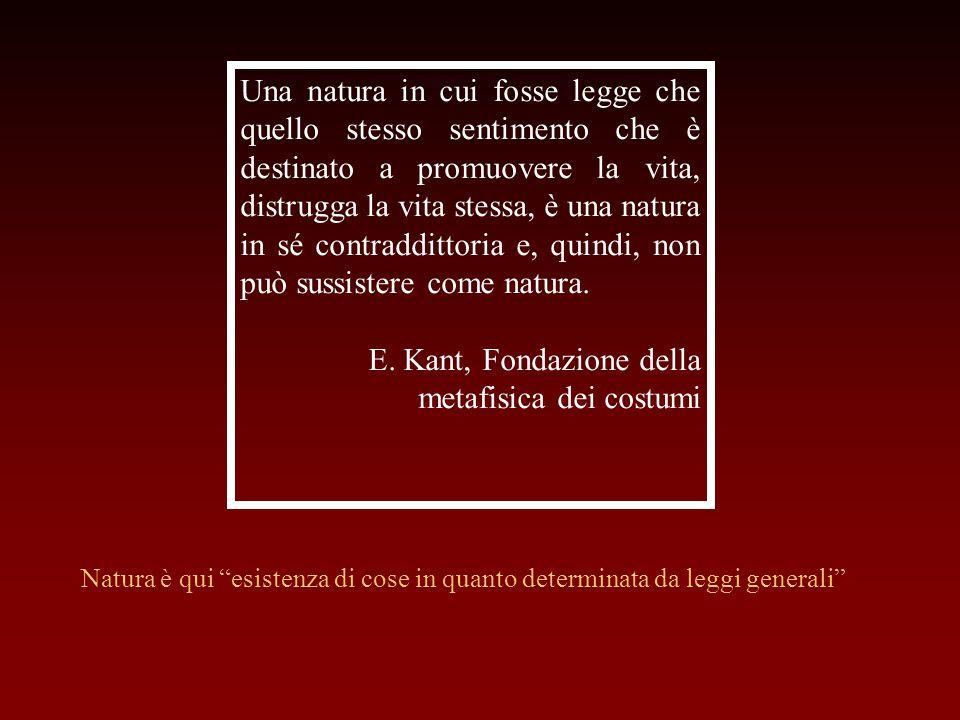 E. Kant, Fondazione della metafisica dei costumi