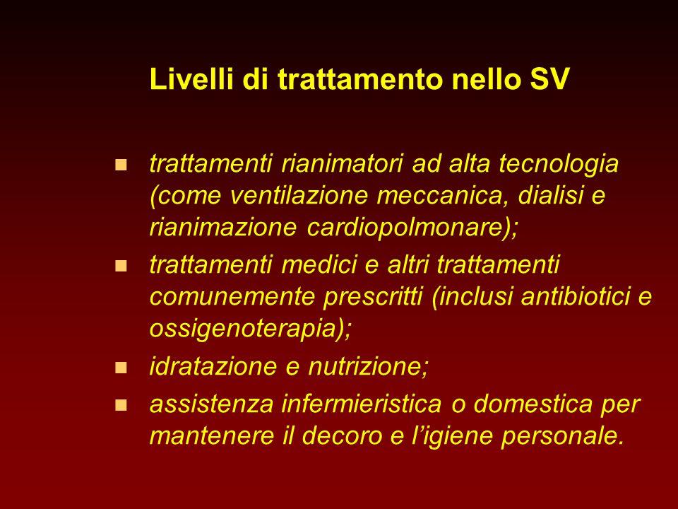 Livelli di trattamento nello SV