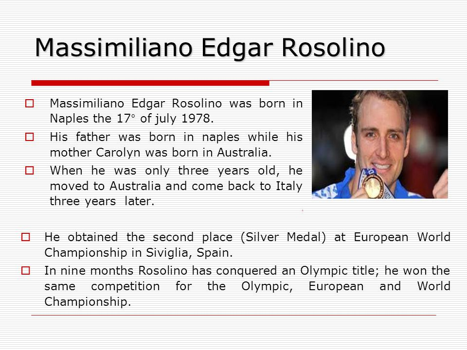 Massimiliano Edgar Rosolino