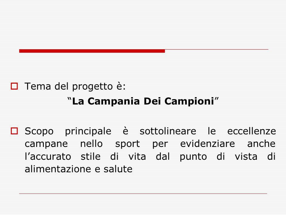 Tema del progetto è: La Campania Dei Campioni