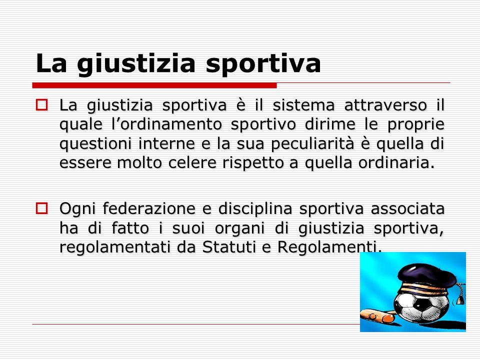La giustizia sportiva