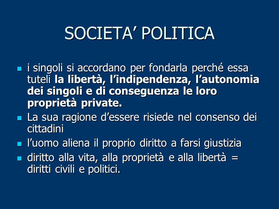 SOCIETA' POLITICA
