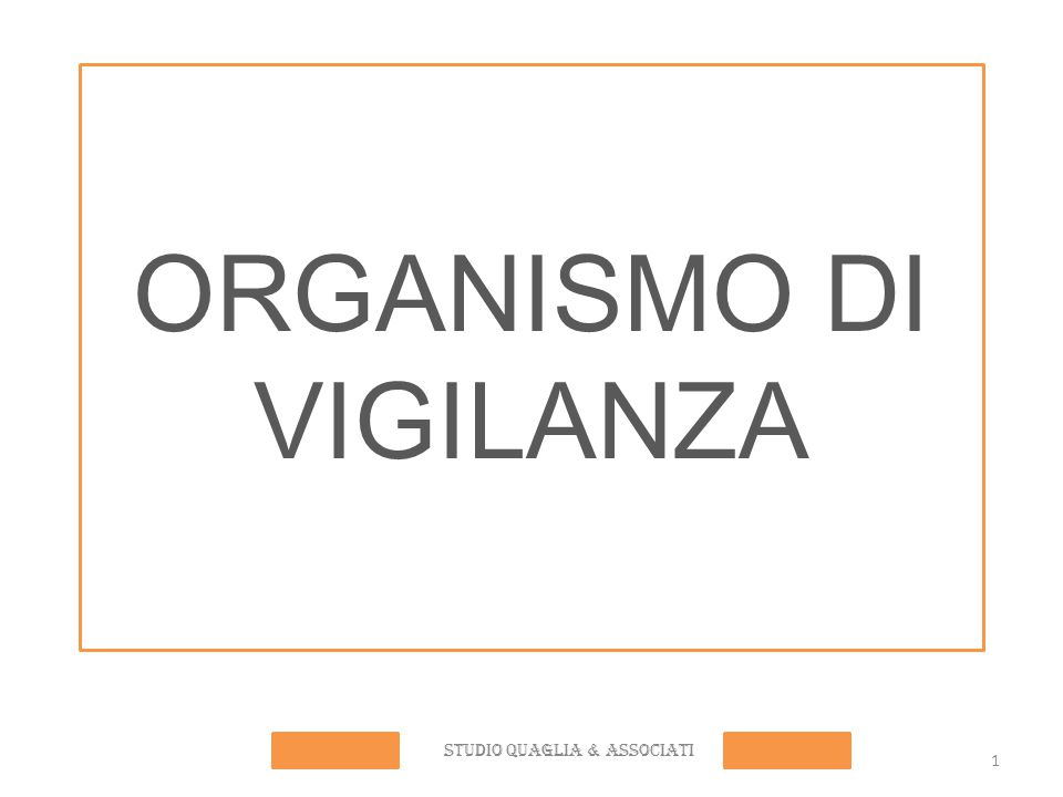 ORGANISMO DI VIGILANZA