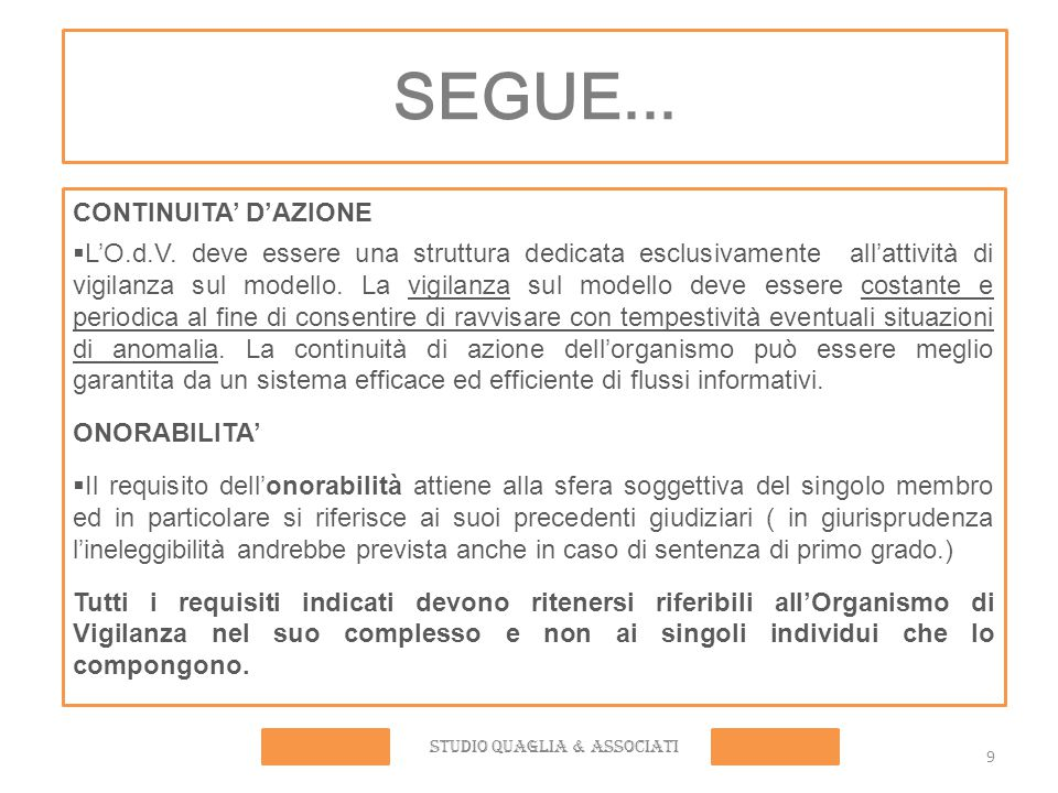 STUDIO QUAGLIA & ASSOCIATI