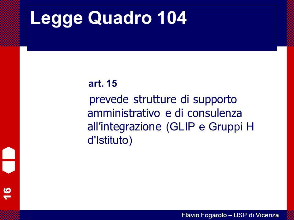 Legge Quadro 104 art. 15.
