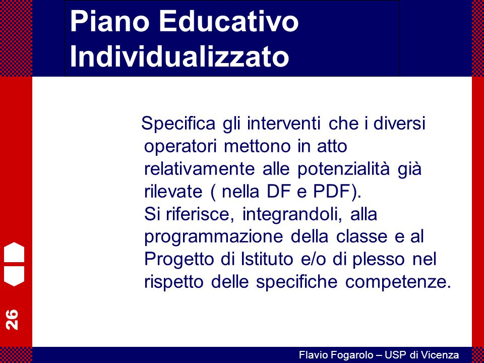 Piano Educativo Individualizzato