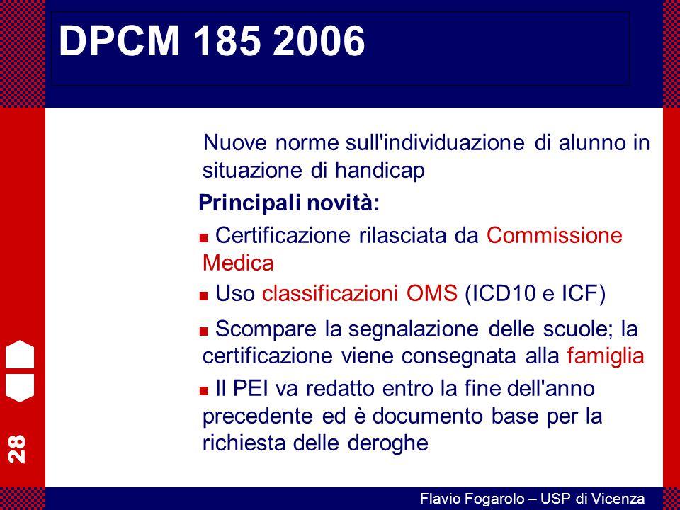 DPCM 185 2006 Principali novità: