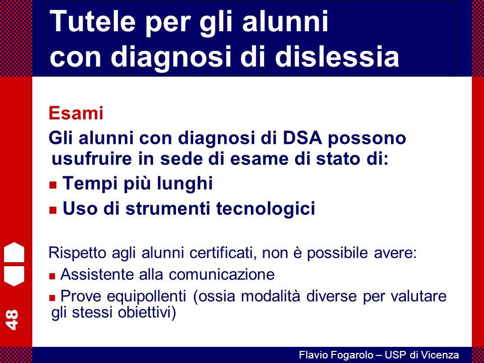 Tutele per gli alunni con diagnosi di dislessia