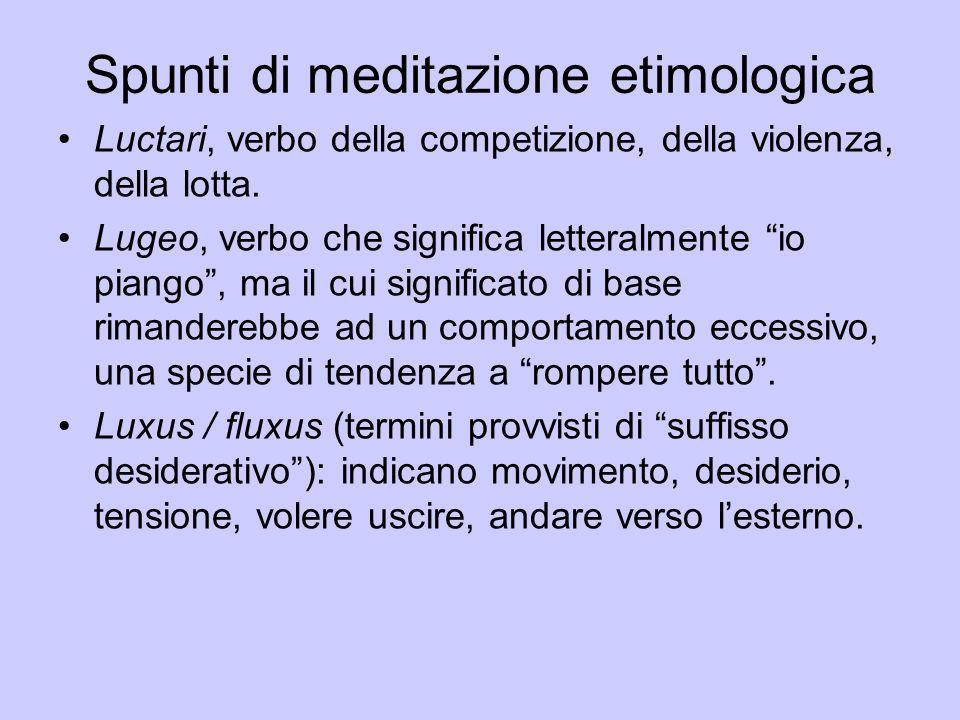 Spunti di meditazione etimologica