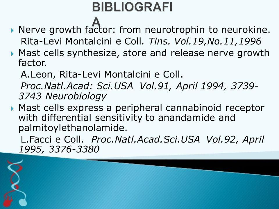 BIBLIOGRAFIA Nerve growth factor: from neurotrophin to neurokine.