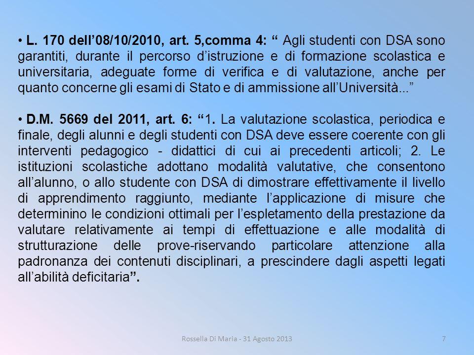 Rossella Di Maria - 31 Agosto 2013