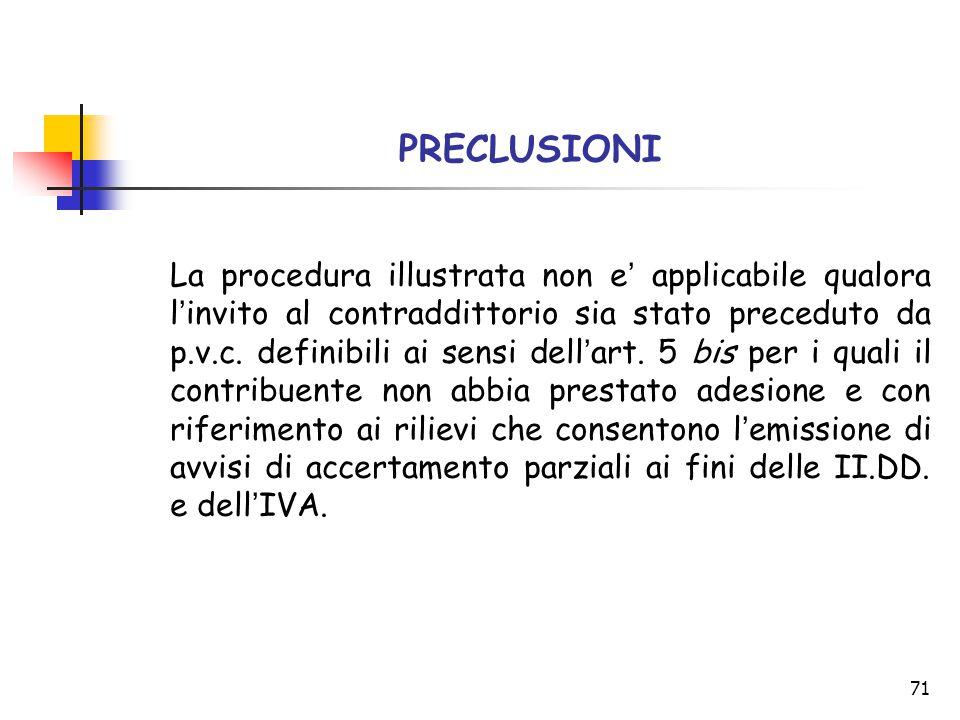 PRECLUSIONI