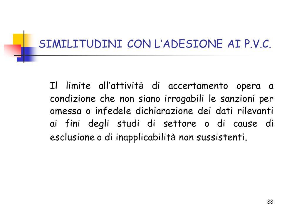 SIMILITUDINI CON L'ADESIONE AI P.V.C.