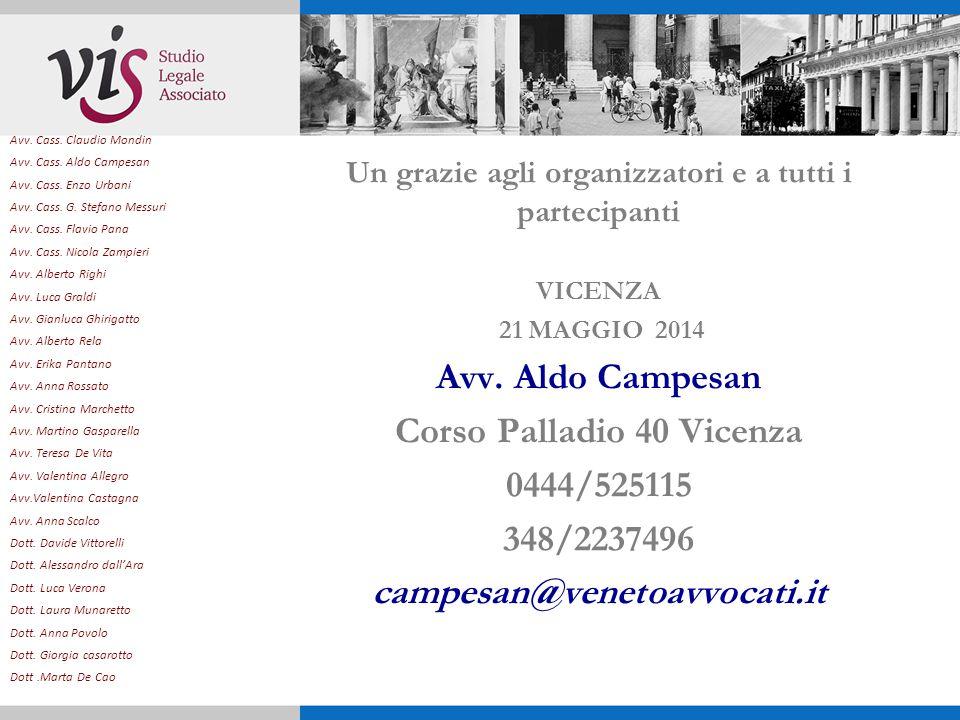 Corso Palladio 40 Vicenza 0444/525115 348/2237496