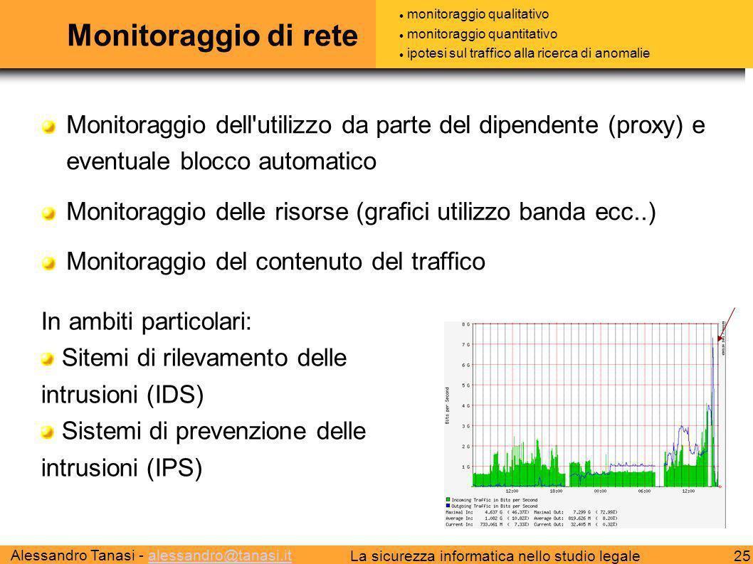 Monitoraggio di rete monitoraggio qualitativo. monitoraggio quantitativo. ipotesi sul traffico alla ricerca di anomalie.