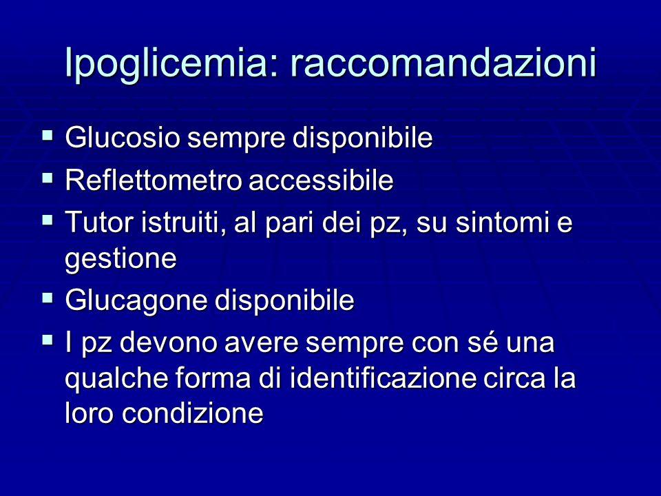 Ipoglicemia: raccomandazioni