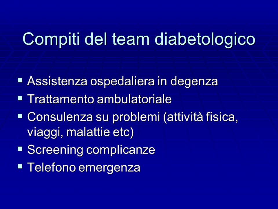 Compiti del team diabetologico