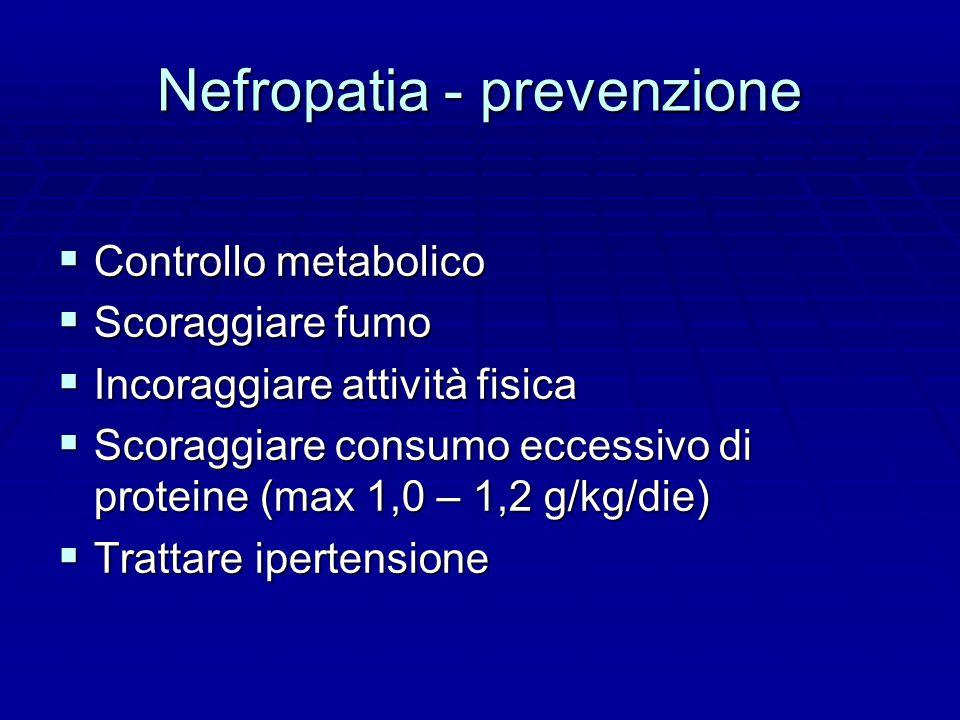 Nefropatia - prevenzione