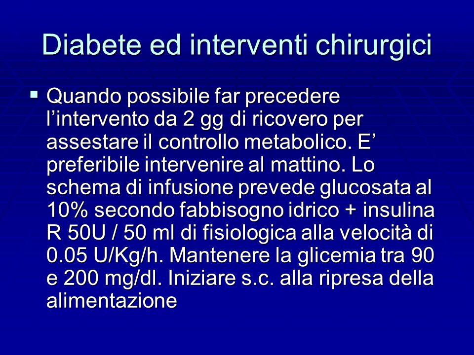 Diabete ed interventi chirurgici