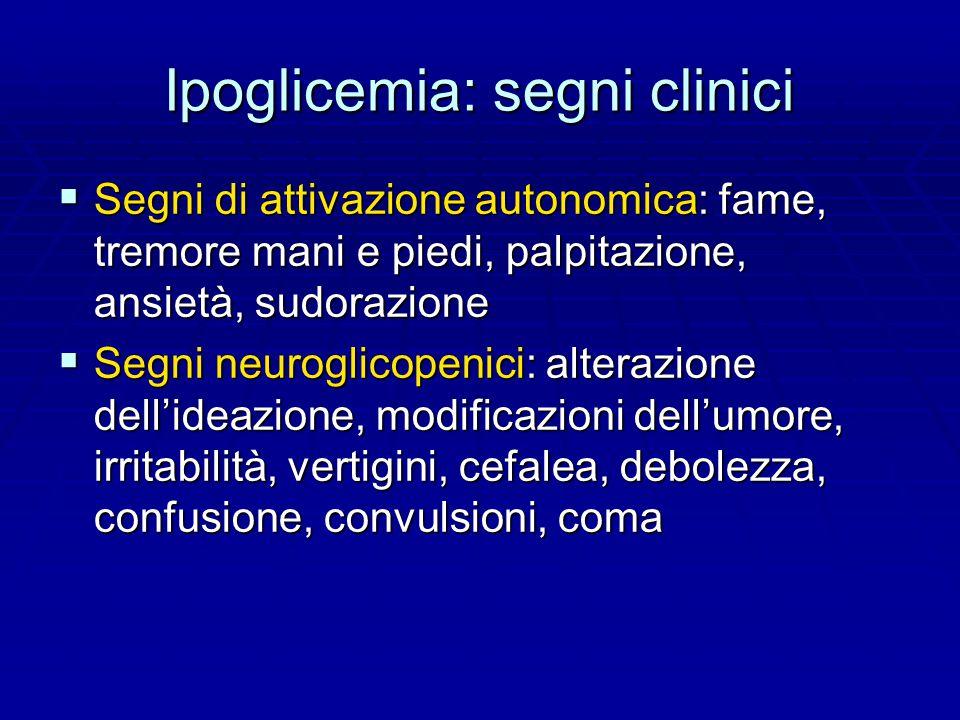 Ipoglicemia: segni clinici