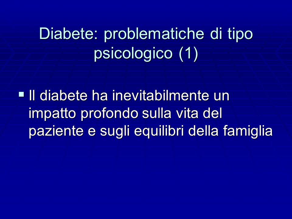 Diabete: problematiche di tipo psicologico (1)
