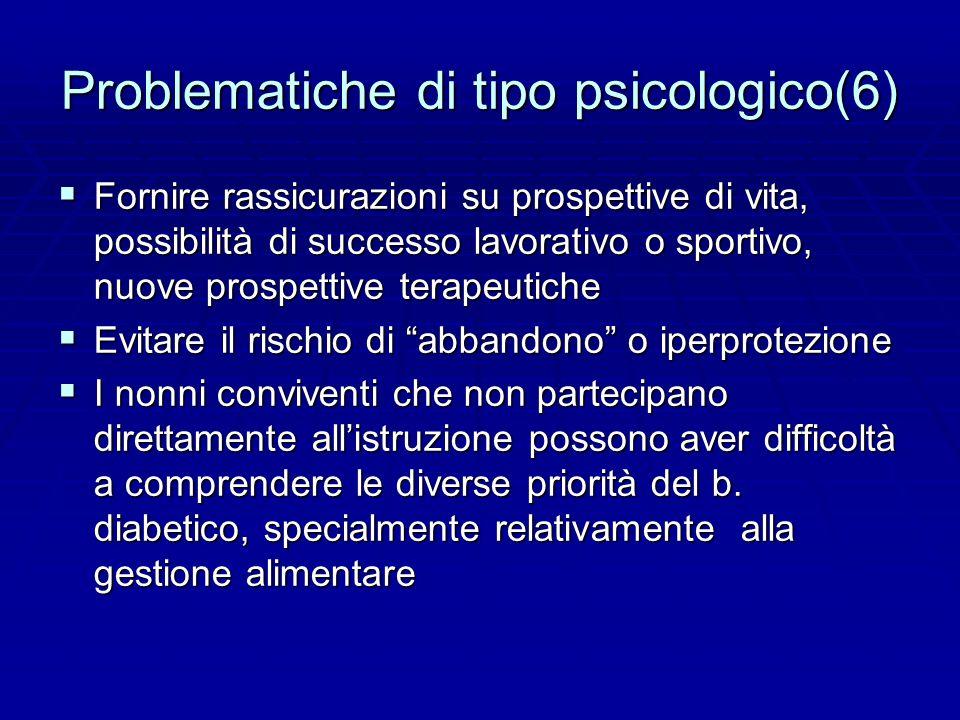 Problematiche di tipo psicologico(6)