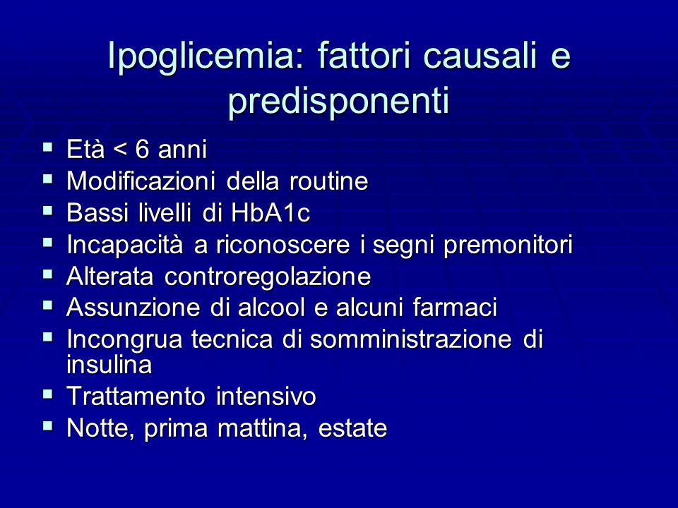 Ipoglicemia: fattori causali e predisponenti