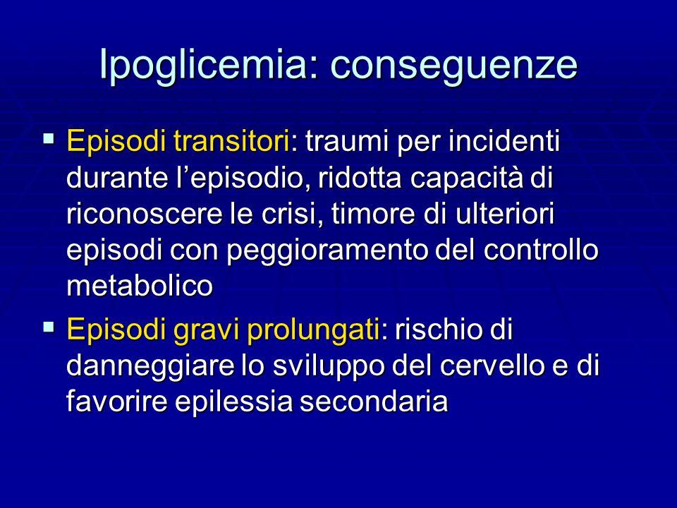 Ipoglicemia: conseguenze