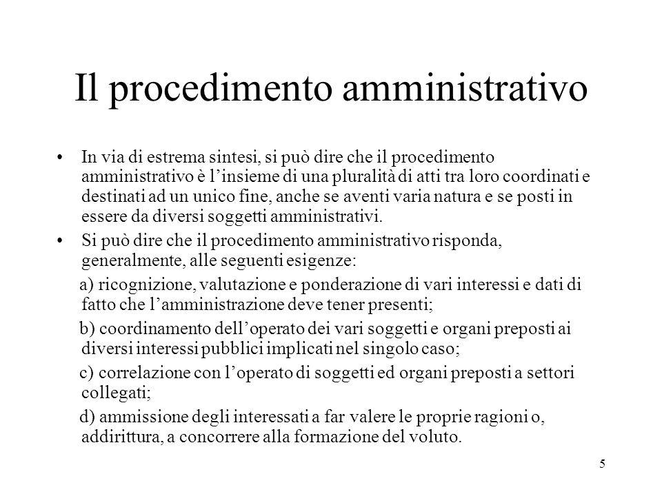 Il procedimento amministrativo
