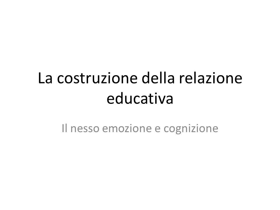 La costruzione della relazione educativa