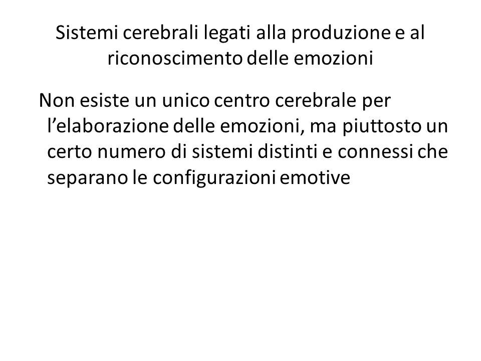 Sistemi cerebrali legati alla produzione e al riconoscimento delle emozioni