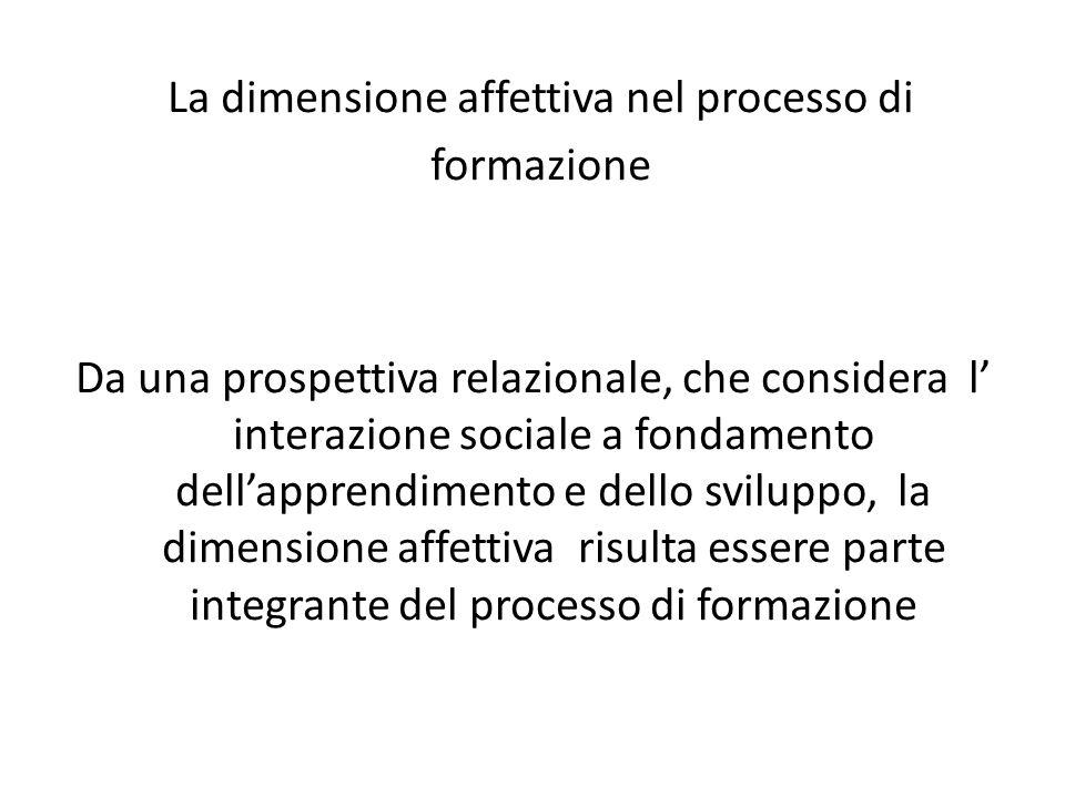 La dimensione affettiva nel processo di formazione