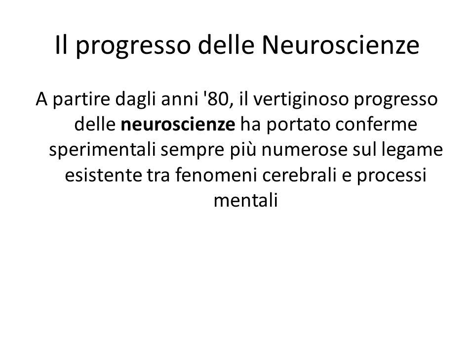 Il progresso delle Neuroscienze