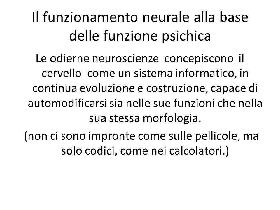 Il funzionamento neurale alla base delle funzione psichica