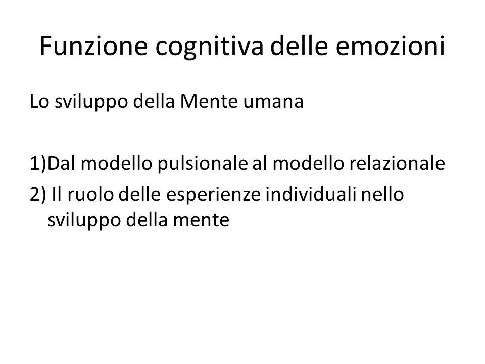 Funzione cognitiva delle emozioni