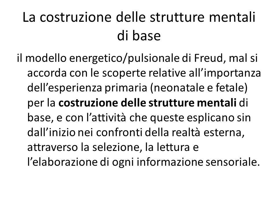 La costruzione delle strutture mentali di base
