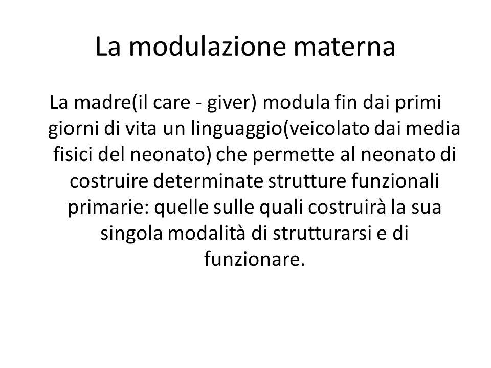 La modulazione materna