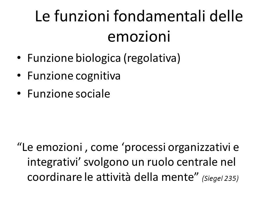 Le funzioni fondamentali delle emozioni