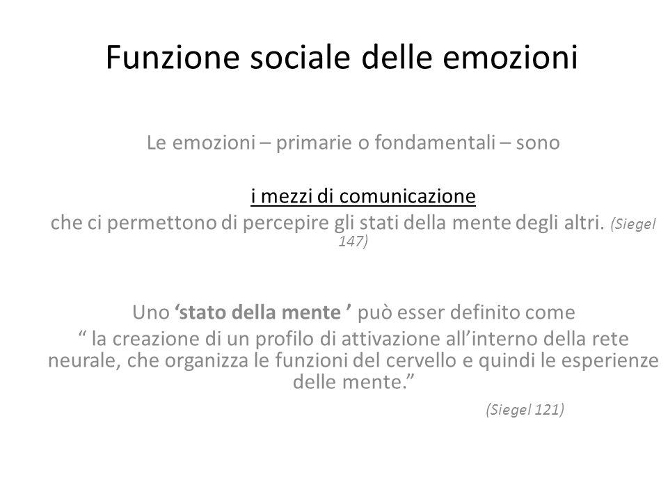 Funzione sociale delle emozioni