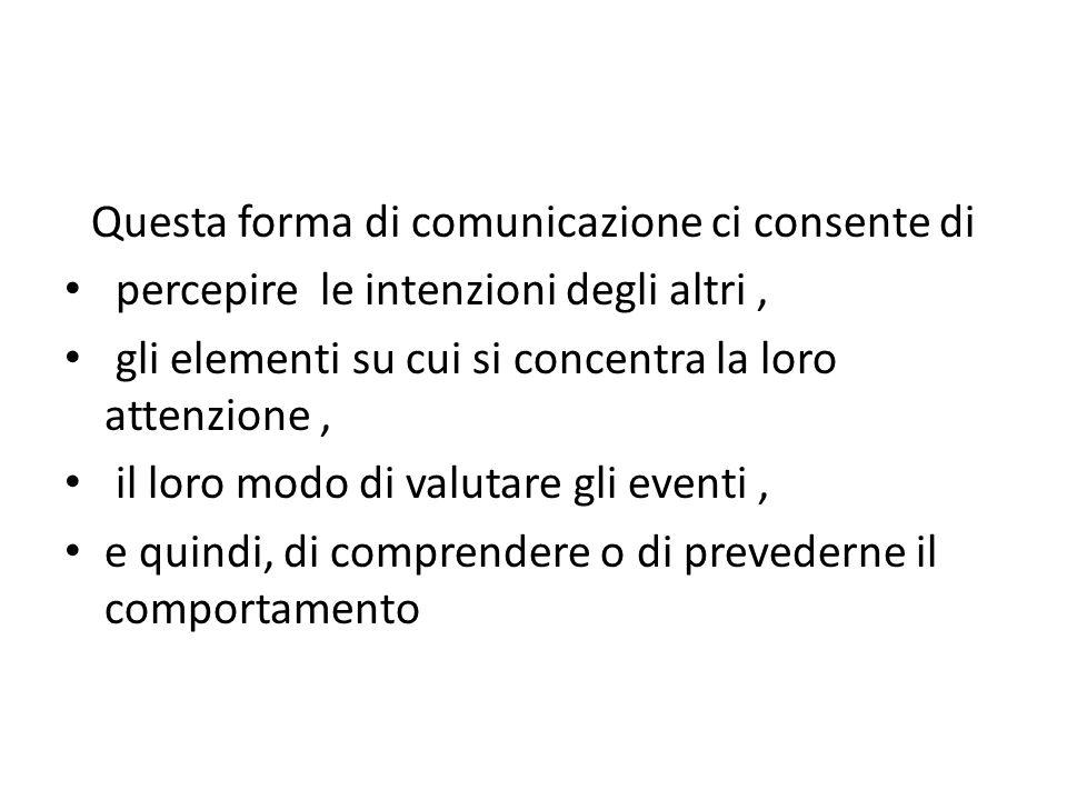 Questa forma di comunicazione ci consente di