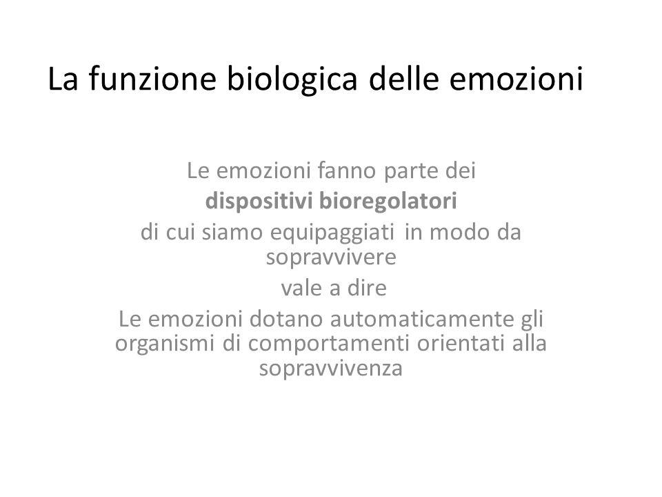 La funzione biologica delle emozioni