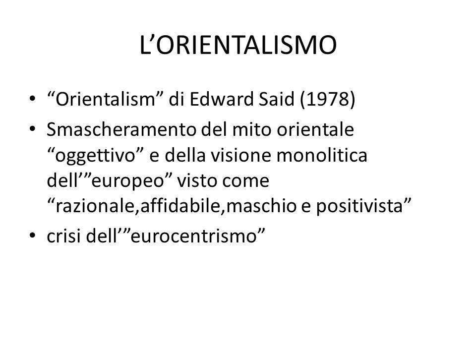 L'ORIENTALISMO Orientalism di Edward Said (1978)