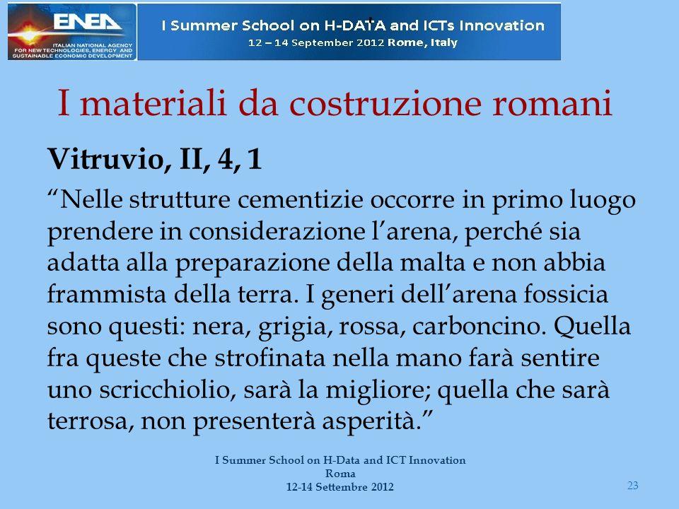 I materiali da costruzione romani