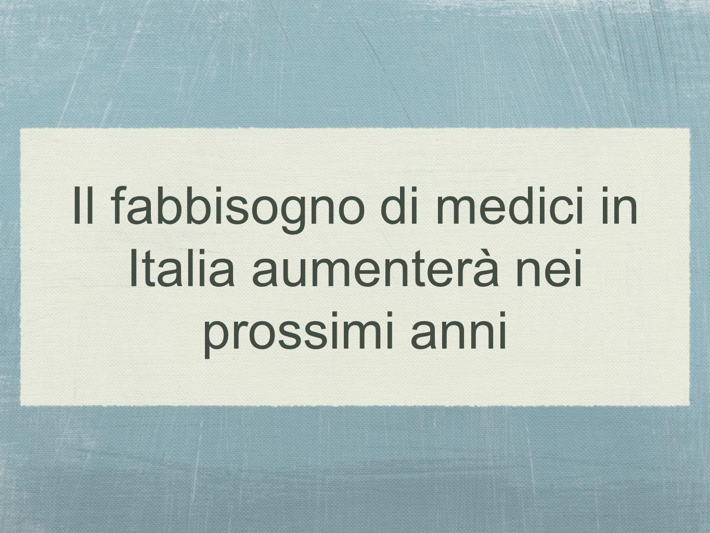 Il fabbisogno di medici in Italia aumenterà nei prossimi anni