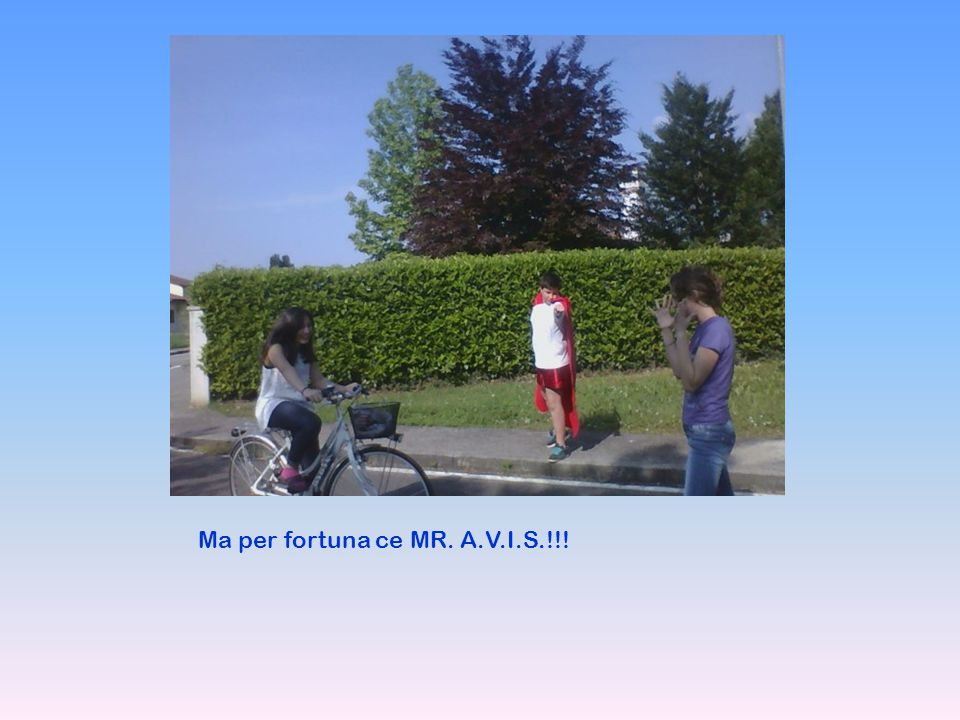 Ma per fortuna ce MR. A.V.I.S.!!!