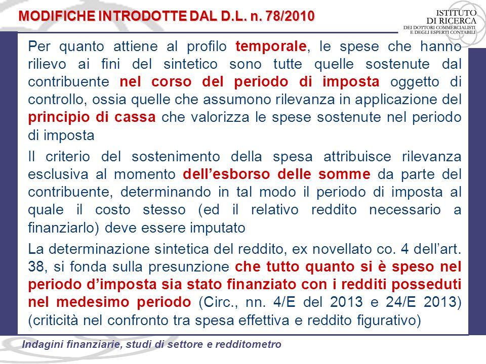 MODIFICHE INTRODOTTE DAL D.L. n. 78/2010